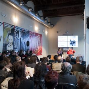 Il pubblico del Teatro Grassi per Silvia De Laude e Walter Siti © Ambra Castelli