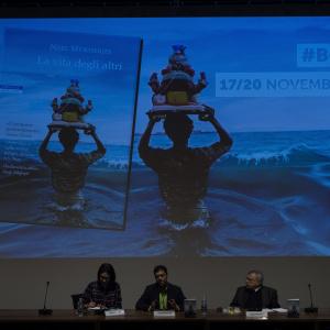 Neel Mukherjee presenta il suo libro - ph. Fabrizio Di Nucci
