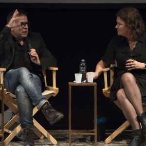 Clara Sanchez dialoga con Marcello Fois - ph. Yuma Martellanz