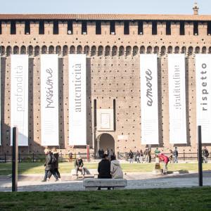 Allestimento al Castello Sforzesco - ph. Alessandra Lanza