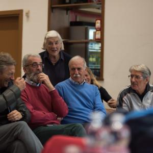 in attesa dell'incontro al Museo Tennis Italia - ph. Marco Mazza