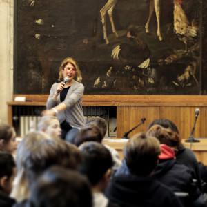 Olivia Crosio per il progetto Nei panni dell'autore (Feltrinelli, presso la Sala del Grechetto della Biblioteca Sormani)