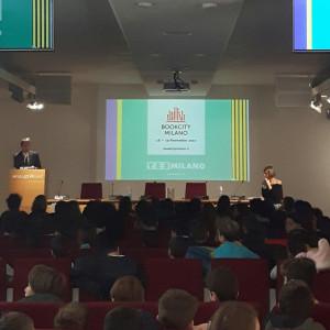 L'assessore Filippo Del Corno apre la mattinata di lavori delle scuole, giovedì 16 novembre, a Palazzo Reale
