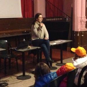 Miriam Dubini per il progetto La storia vera di una bambina e del suo gatto in fuga dalla guerra (Piemme, presso l'Arci Bellezza)