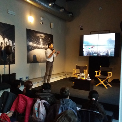 Tim Bruno per il progetto Neos, un future fantasy italiano (Salani, presso il Chiostro del Piccolo Teatro)