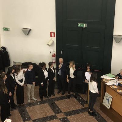 Gli studenti premiati (Archivio di Stato)