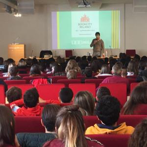 Luigi Garlando incontra le classi per il progetto Napoleone e il calcio (Piemme, presso Palazzo Reale)
